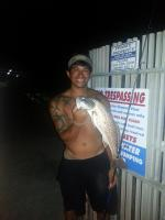 Click to enlarge image Little Robert Rojas caught this beautiful Red at 10pm on July 19, 2014. - 2014 catches -