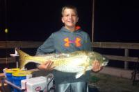 "Click to enlarge image Ayden Walpole of Poth, Texas caught this beautiful 37"" Red at 3am October 13, 2014. - More big Reds -"