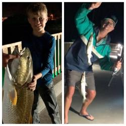 Click to enlarge image  - 2021 Fishing - Kurt and his son having a great time fishing!!!